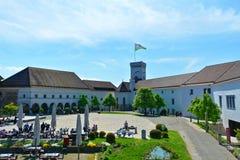 Ljubljana slott i huvudstad av Slovenien, Europa Arkivfoton