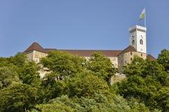 Ljubljana slott, Slovenien Arkivbilder