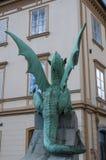 Ljubljana, Slovénie, l'Europe, statue de dragon, Dragon Bridge, Zmajski plus, animaux légendaires Images stock