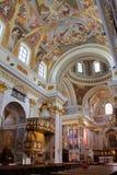 LJUBLJANA, SLOVENIË - SEPTEMBER 17, 2012: Het binnenland van St Nicholas Cathedral royalty-vrije stock afbeelding