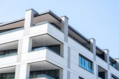 Ljubljana, Slovenia 7.5.2019 beautiful modern luxury housing from outside stock image