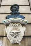 Bust memorial of the Protestant grammarian Adam Bohori stock photos