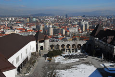 Ljubljana Slovenia castle Royalty Free Stock Photos