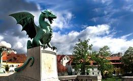 Ljubljana - Slovenia. Dragon - the symbol of Ljubljana - Slovenia Stock Photography
