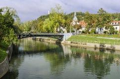 Ljubljana, Slovenia, Ljubljanica river Royalty Free Stock Image
