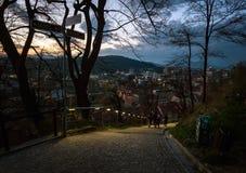 ljubljana slovenia soirée photo stock