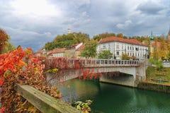 Free Ljubljana, Slovenia Waterfront Royalty Free Stock Image - 161450256