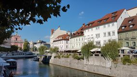 Ljubljana Slovenien royaltyfria bilder