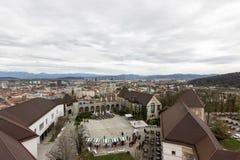 Ljubljana Slovenien Arkivbild