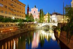 Ljubljana Slovenien Arkivfoton