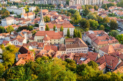 Ljubljana, St James Church Stock Photo