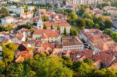 Ljubljana, St James kościół Zdjęcie Stock