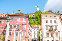 Ljubljana stad i Slovenien Royaltyfria Foton