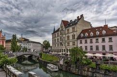 Ljubljana - Stadtzentrum Lizenzfreie Stockfotografie