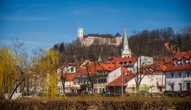 Ljubljana, stedelijk landschap, Slovenië Royalty-vrije Stock Fotografie