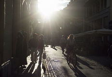 Ljubljana street life Royalty Free Stock Photography