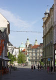 Ljubljana Street View Royalty Free Stock Photography