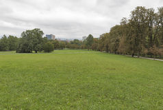 Ljubljana Tivoli Park landscape. Slovenia Royalty Free Stock Photo