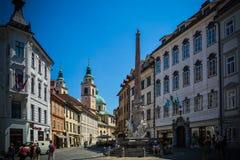 Ljubljana town center Stock Images