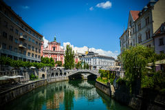 Ljubljana town center Royalty Free Stock Image