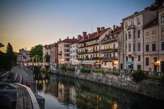 Ljubljana town center Royalty Free Stock Photos