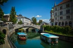 Ljubljana town center Royalty Free Stock Images