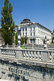 Ljubljana Triple Bridge royalty free stock photography