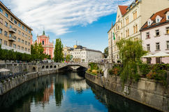 Ljubljana, Triple Bridge Royalty Free Stock Photography