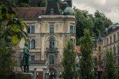 Ljubljana vierkante Ljubljiana royalty-vrije stock foto