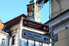 Ljubljanas centrum, huvudstaden av Slovenien, Europa Arkivbild