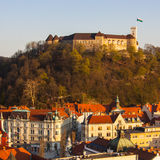 Ljubljanas Schloss Lizenzfreies Stockfoto