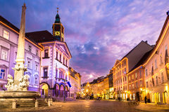 Ljubljanas Stadtzentrum, Slowenien, Europa. Stockfotografie