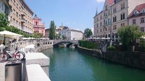 LjubljanicaÂ的河 免版税图库摄影