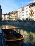 Ljubljanica flod Royaltyfri Fotografi
