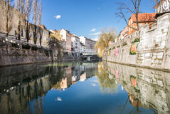 Ljubljanica river Stock Photo