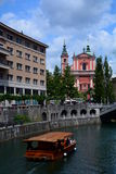 Ljubljanica River. Ljubljana. Slovenia Stock Photo