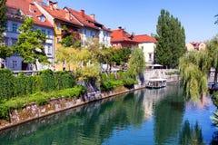Ljubljanica River Ljubljana Slovenia Stock Image