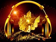 Ljud av hörlurar Arkivfoto