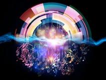 Ljud av musik vektor illustrationer