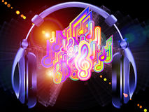Ljud av musik Fotografering för Bildbyråer