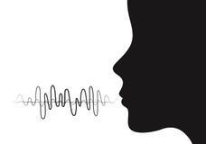 Ljud av stämman vektor illustrationer
