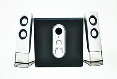ljud det stereo- systemet Arkivfoto