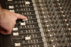 ljud för producent för dammig faderblandare moving Fotografering för Bildbyråer