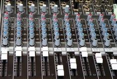 ljud för dj-blandaremusik Arkivbild