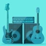 Ljud och musikuppsättning Arkivbilder