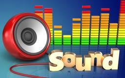 ljud' tecken för högtalare 3d ' Arkivbild
