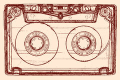 Ljudkassett Arkivfoton