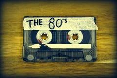 Ljudkassettband: 80-tal royaltyfri bild