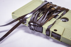 Ljudkassetter - retro stil Arkivfoton