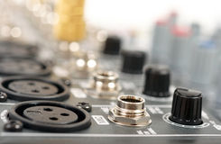 Ljudsignal blandande konsol Royaltyfria Bilder